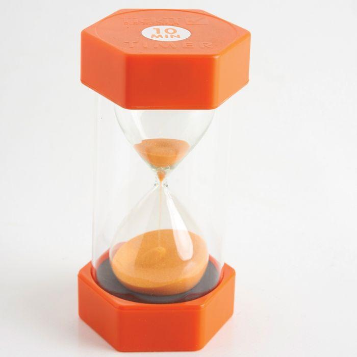 Orange Sand Timer: 10 Minutes