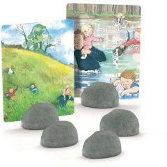 Stone Individual Card Holders - Set of 5
